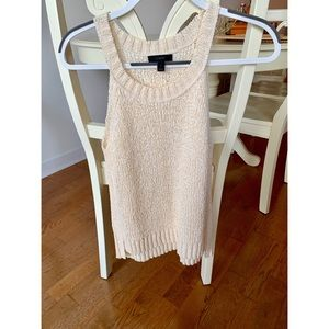 NEW! J Crew woven tank in soft ivory (SMALL)